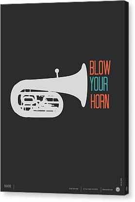 Blow Your Horn Poster Canvas Print by Naxart Studio