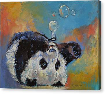 Blowing Bubbles Canvas Print by Michael Creese