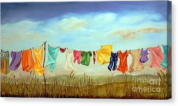 Blowing In The Breeze Canvas Print by Anna-maria Dickinson