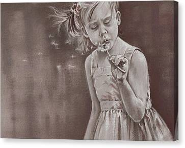 Blowing In The Wind Canvas Print by Natasha Denger