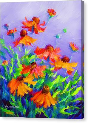 Blowing In The Wind Canvas Print by Georgiana Romanovna