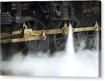 Blowing Of Steam Canvas Print