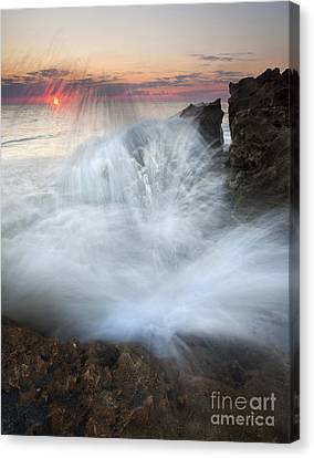 Blowing Rocks Sunrise Explosion Canvas Print by Mike  Dawson