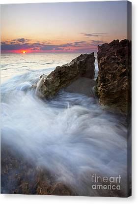 Blowing Rocks Sunrise Canvas Print by Mike  Dawson