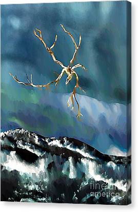 Blown Away To Sea Canvas Print by Sarah Loft