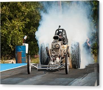 Blown Front Engine Dragster Burnout Canvas Print