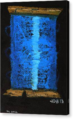 Canvas Print featuring the drawing Blue 2 by Joseph Hawkins