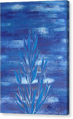 Canvas Print featuring the painting Blue 2 by Nico Bielow