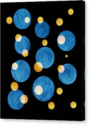 Blue Abstract Circles Canvas Print by Frank Tschakert