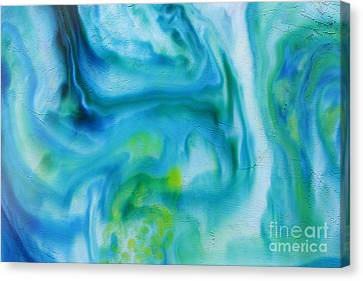 Blue Abstract Canvas Print by Darren Fisher