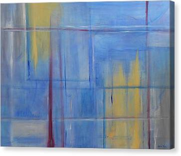 Blue Abstract Canvas Print by Jamie Frier