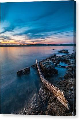 Blue Adriatic Evening Canvas Print