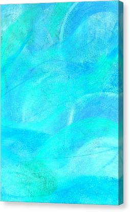 Blue And Aqua Abstract Canvas Print