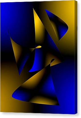 Blue And Brown Abstract Design Canvas Print by Mario Perez