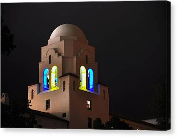 Blue And Gold I-house Dome Canvas Print
