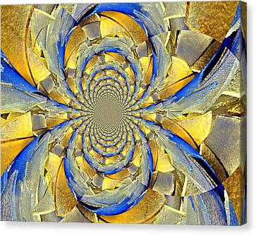 Blue And Gold Canvas Print by Marty Koch