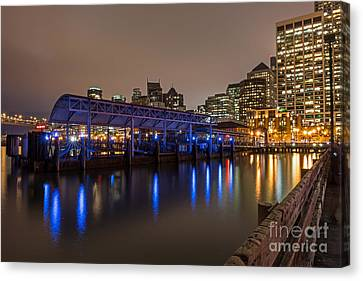 Blue And Gold Night Canvas Print