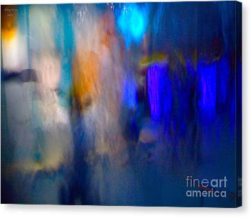 Blue And Green Marine Abstract Canvas Print by  Andrzej Goszcz