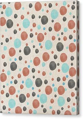 Blue And Orange Dots Canvas Print
