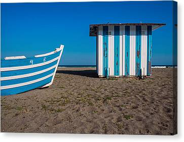 Blue And Sand Canvas Print