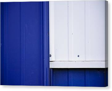 Blue And White Canvas Print by Christi Kraft
