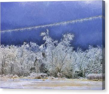 Blue And White Canvas Print by Kathy Jennings