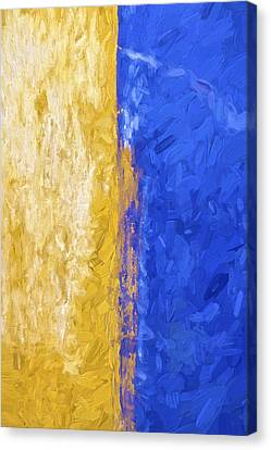 Blue And Yellow Abstract Canvas Print by David Letts