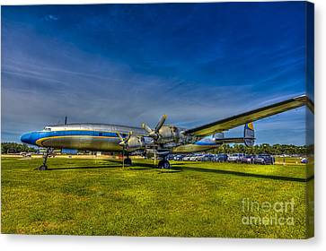 Blue And Yellow Connie Canvas Print by Marvin Spates