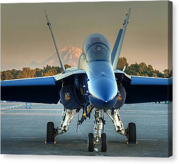 Blue Angel At Sunset Canvas Print by Jeff Cook