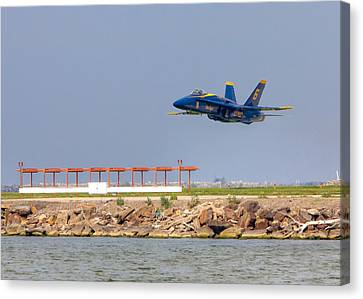Canvas Print featuring the photograph Blue Angel by Brent Durken