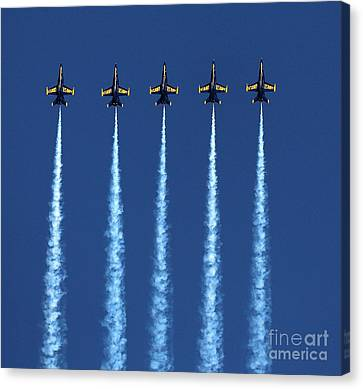 Blue Angels 5 Up Canvas Print