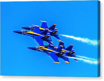 Blue Angels Glow Canvas Print by Bill Gallagher