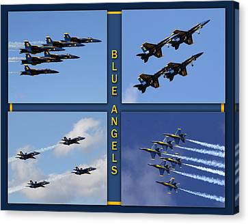 Canvas Print featuring the photograph Blue Angels by John Freidenberg