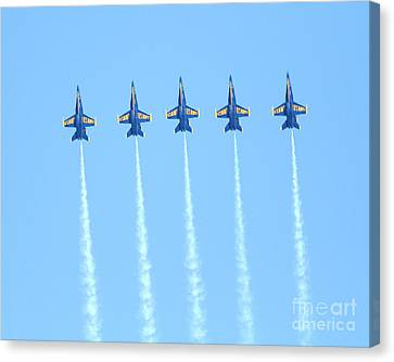 Blue Angels Reaching New Heights Canvas Print