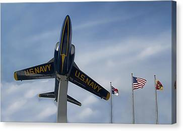 Canvas Print featuring the photograph Blue Angels Tribute by Victor Montgomery