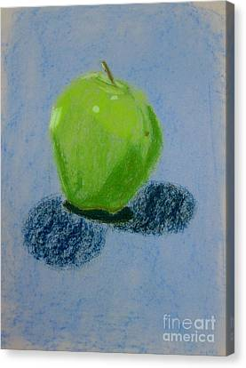 Blue Apple Canvas Print by Christopher Murphy