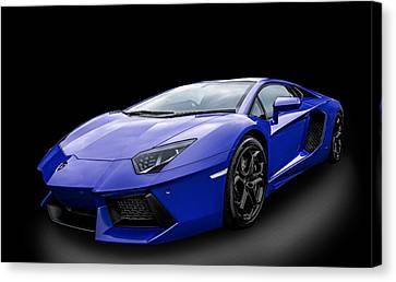 Blue Aventador Canvas Print by Matt Malloy