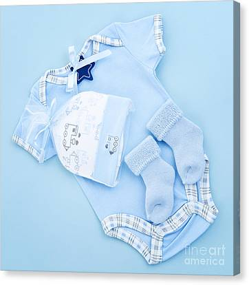 Blue Baby Clothes For Infant Boy Canvas Print by Elena Elisseeva
