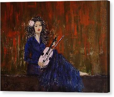 Blue Ballad... Canvas Print by Cristina Mihailescu