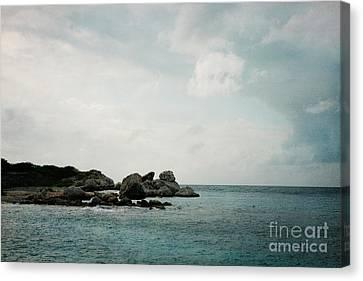 Blue Bay Beach Canvas Print by Kim Fearheiley