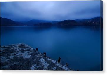 Blue Bay Canvas Print by Tommaso Di Donato