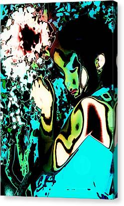 Canvas Print featuring the photograph Blue Beauty by Jessica Shelton