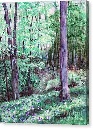 Blue Bells In Bloom Canvas Print by Janet Felts