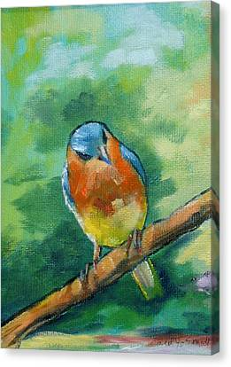 Blue Bird 1 Canvas Print