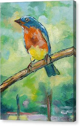 Blue Bird 2 Canvas Print