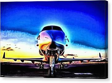 Airoplane Canvas Print - Blue Bird by Art Diamond