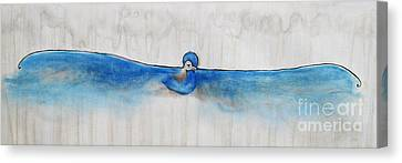 Blue Bird Of Happiness Canvas Print by Carrie Jackson