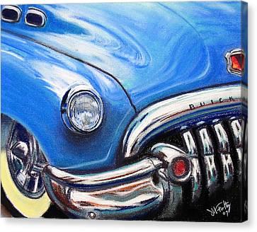 Blue Blue Buick Canvas Print
