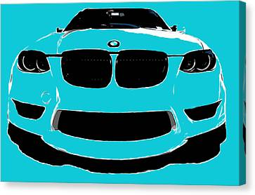 Blue Bmw Canvas Print by J Anthony
