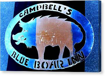 Canvas Print featuring the photograph Blue Boar Inn II by Larry Campbell